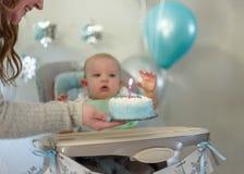 Baby ` s erstes Geburtstagsfeier lizenzfreie stockfotografie