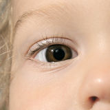Baby's eye royalty free stock photography
