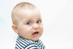 Baby's faces Stock Images