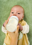 Baby's feeding Royalty Free Stock Photo