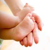 Baby's feet stock image