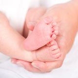 Baby's feet Stock Photography