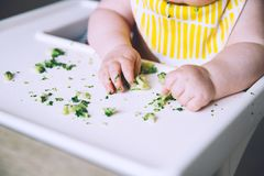 Baby& x27;s first food to feed Royalty Free Stock Photos