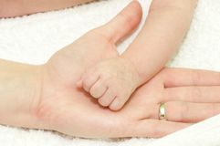 The baby's fist Royalty Free Stock Photo