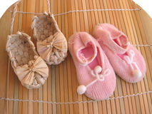 Baby's footwear Royalty Free Stock Image