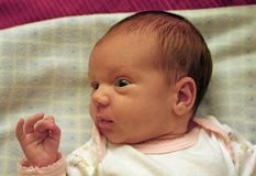 Baby's glance Stock Images