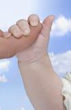 Baby's hand Stock Image