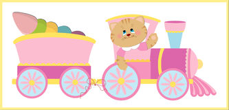 Baby's illustration with cat Royalty Free Stock Photography