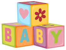 Baby's letter cubes vector illustration