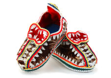 Baby's mocassins. Royalty Free Stock Image
