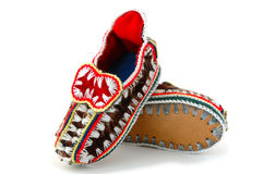 Baby's mocassins. Royalty Free Stock Photography