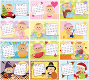 Baby's monthly calendar for 2011. Baby's monthly calendar for year 2011 stock illustration