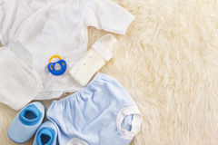 Baby's outfit and accessories Stock Photo