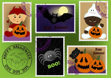 Baby's postage marks and stamps Stock Photography