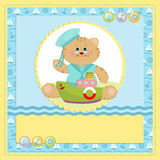 Baby's postcard with sailor cat Royalty Free Stock Photo