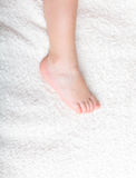 Baby's pretty leg Royalty Free Stock Images