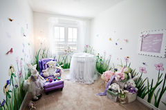 Baby's room. Modern, spacious Infant's room royalty free stock photography