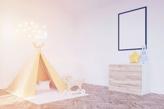 Baby`s room with a tent, toned Stock Image