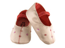 Baby's shoes. A pair of pink baby's shoes Royalty Free Stock Image