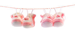 Baby's slippers Stock Photos