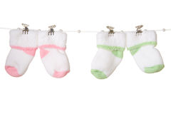 Baby's  socks Stock Images
