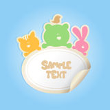 Baby's Sticker with place for text. Royalty Free Stock Images