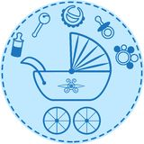 Babys things collection Royalty Free Stock Images