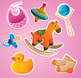 Baby's toys collection Royalty Free Stock Images