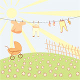 Baby's underwear drying on a rope Stock Images