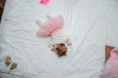 Baby's White and Pink Outfit Stock Photo