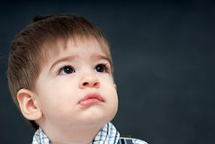 Baby sad face Stock Images
