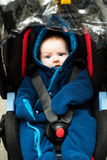 Baby in safety car seat Royalty Free Stock Photo