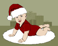 Baby Santa Stock Image