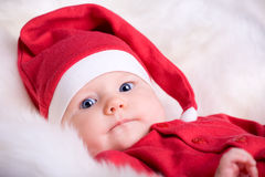 Baby Santa Stock Photography