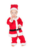 Baby santa with candy cane Royalty Free Stock Images