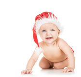 Baby in santa cap Royalty Free Stock Images