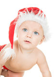 Baby in santa cap Royalty Free Stock Photography
