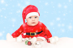Baby Santa Claus Royalty Free Stock Photo
