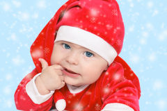 Baby Santa Claus. Baby in Santa Claus costume Royalty Free Stock Photography