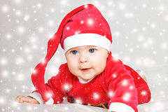 Baby Santa Claus Stock Image