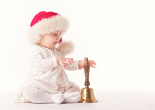 Baby santa claus Royalty Free Stock Images