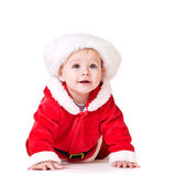 Baby in Santa costume Royalty Free Stock Photo
