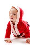 Baby in santa costume Stock Images