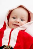 Baby in santa-costume Stock Photography