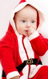 Baby in santa-costume Royalty Free Stock Photo