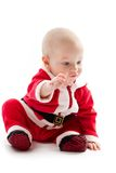 Baby in santa-costume Royalty Free Stock Image