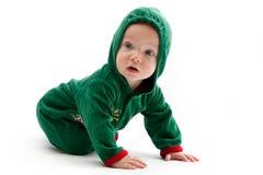 Baby in santa-costume Stock Image
