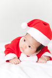 Baby with santa costume Royalty Free Stock Images