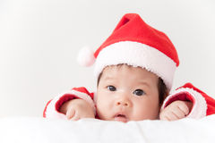 Baby with santa costume Royalty Free Stock Photo