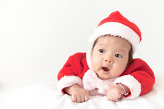 Baby with santa costume Stock Images
